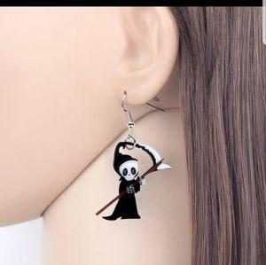 4/$30 Acrylic Anime Death Reaper Earrings